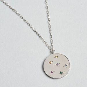 Tai Jewelry Rainbow Silver Medallion Necklace